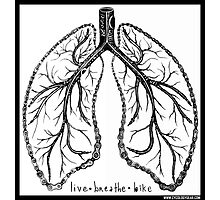Live, breathe, bike Photographic Print
