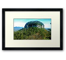 Pilot Mountain Framed Print