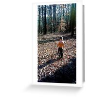 Boy in Nature Greeting Card