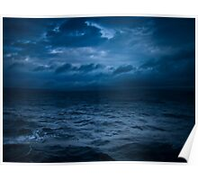 Stormy Ferry Crossing Poster