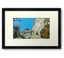 Blue Skies at Pilot Mountain Framed Print