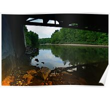 Looking Up the River Under the Bridge Poster