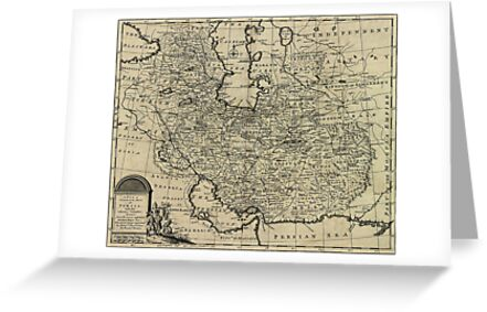 Persia Ancient Map 1747 by VintageLevel