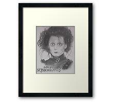 Edward Scissorhands portrait Framed Print