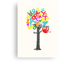 Sleep All Day (Alphabet tree) Canvas Print