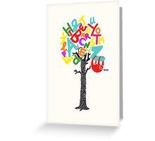 Sleep All Day (Alphabet tree) Greeting Card