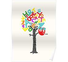 Sleep All Day (Alphabet tree) Poster