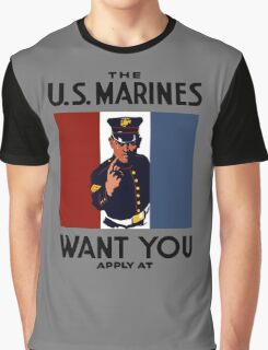 The U.S. Marines Want You Graphic T-Shirt