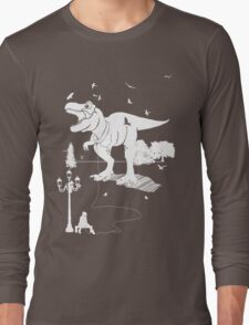 Playtime Dinosaur - White Long Sleeve T-Shirt