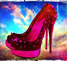 Spike Red Bottom Heel Heavenly  by Arts4U