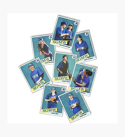Grey's Anatomy - Baseball Cards Photographic Print