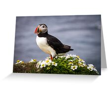 Standing on flowers Greeting Card