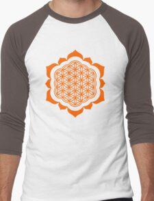 Flower of life - Lotus Flower, sacred geometry, Metatrons cube Men's Baseball ¾ T-Shirt