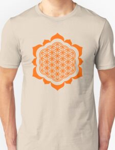 Flower of life - Lotus Flower, sacred geometry, Metatrons cube Unisex T-Shirt