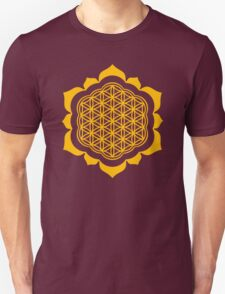 Flower of life - Lotus Flower, sacred geometry, Metatrons cube Unisex T-Shirt