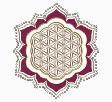 Flower of life, sacred geometry, Metatrons cube, symbol healing & balance   Kids Clothes