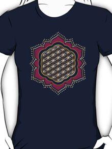 Flower of life, sacred geometry, Metatrons cube, symbol healing & balance   T-Shirt