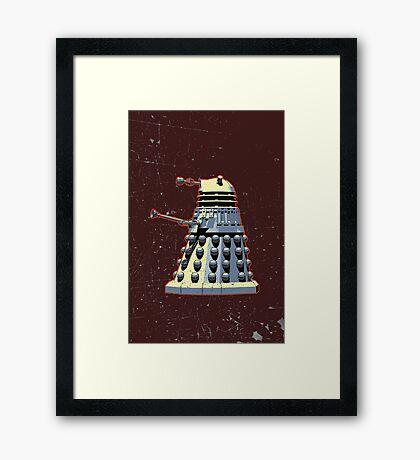 Vintage Look Doctor Who Dalek Graphic Framed Print
