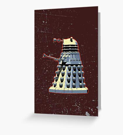 Vintage Look Doctor Who Dalek Graphic Greeting Card