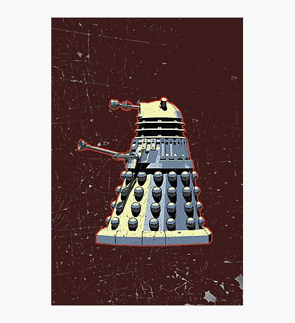 Vintage Look Doctor Who Dalek Graphic Photographic Print