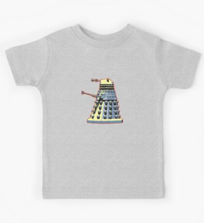 Vintage Look Doctor Who Dalek Graphic Kids Tee