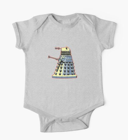 Vintage Look Doctor Who Dalek Graphic One Piece - Short Sleeve