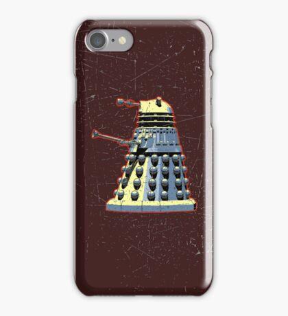 Vintage Look Doctor Who Dalek Graphic iPhone Case/Skin