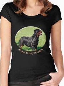 Rottweiler  Women's Fitted Scoop T-Shirt