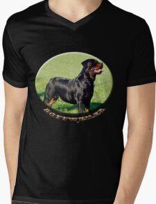 Rottweiler  Mens V-Neck T-Shirt