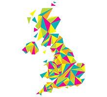 Abstract United Kingdom Bright Earth by Travla Creative