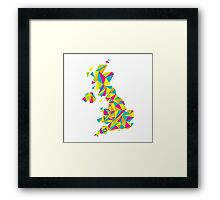 Abstract United Kingdom Bright Earth Framed Print