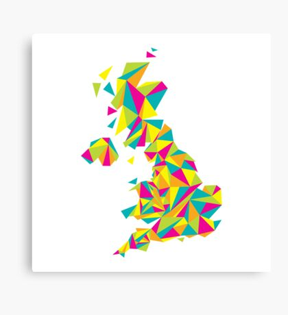 Abstract United Kingdom Bright Earth Canvas Print
