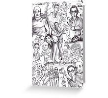 Lost - John Locke and Benjamin Linus Greeting Card