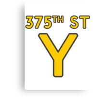 375th Street Y - Royal Tenenbaums Tshirt Canvas Print
