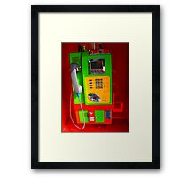 Colorful Phonebooth Framed Print