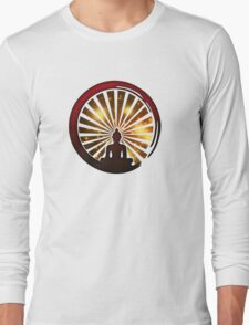 Enso Zen Circle, Meditation, Buddha, Buddhism, Japan, Sun Long Sleeve T-Shirt