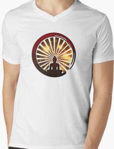 Enso Zen Circle, Meditation, Buddha, Buddhism, Japan, Sun Mens V-Neck T-Shirt
