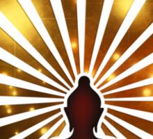 Enso Zen Circle, Meditation, Buddha, Buddhism, Japan, Sun Sticker