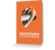 Kimi Räikkönen Helmet Design 2013 Season Greeting Card