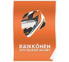 Kimi Räikkönen Helmet Design 2013 Season Poster