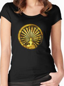 Enso Zen Circle of Enlightenment, Meditation, Buddha, Buddhism, Japan Women's Fitted Scoop T-Shirt