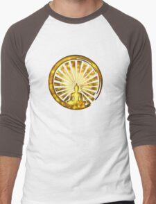 Enso Zen Circle of Enlightenment, Meditation, Buddha, Buddhism, Japan Men's Baseball ¾ T-Shirt