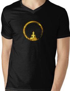 Enso Zen Circle of Enlightenment,  Meditation, Buddha, Buddhism, Japan Mens V-Neck T-Shirt