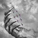 The Red Arrows - Moody Sky - Dunsfold 2013 by Colin J Williams Photography