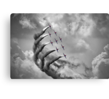 The Red Arrows - Moody Sky - Dunsfold 2013 Canvas Print