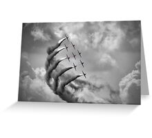 The Red Arrows - Moody Sky - Dunsfold 2013 Greeting Card
