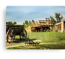 Hay Harvest Tools Canvas Print