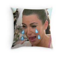 Sad Kim Throw Pillow
