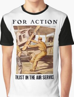 For Action - Enlist In The Air Service Graphic T-Shirt