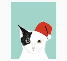 Tuxedo Cat Christmas Hat cute funny holiday cat lady gift idea Classic T-Shirt